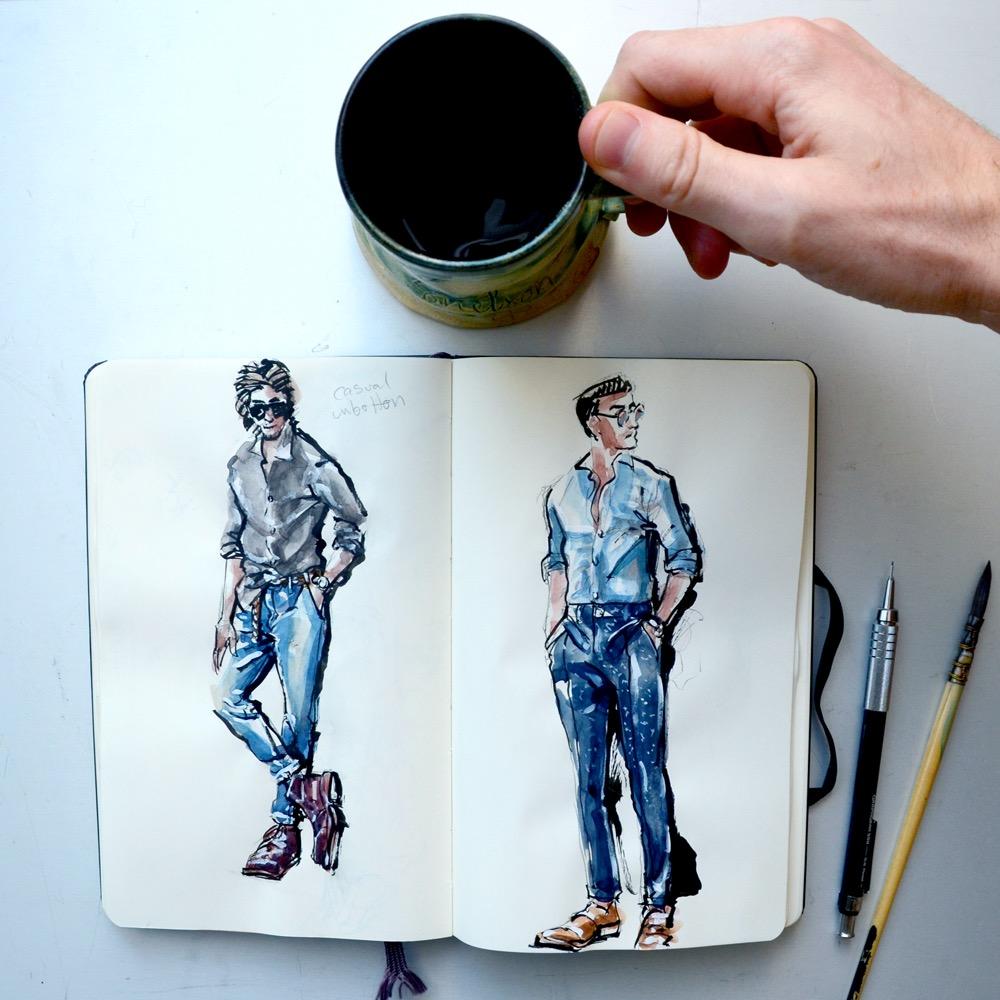 Sunflowerman Sketchbook with coffee
