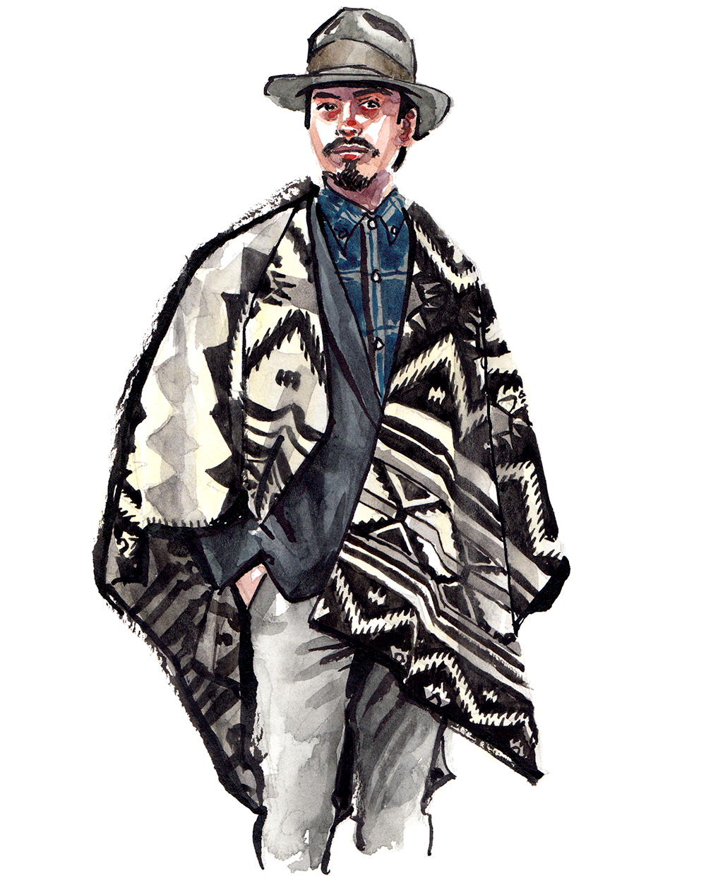 Denny Balmaceda  wearing  Woolrich Inc.