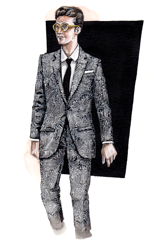 A  Tiger of Sweden  menswear illustration