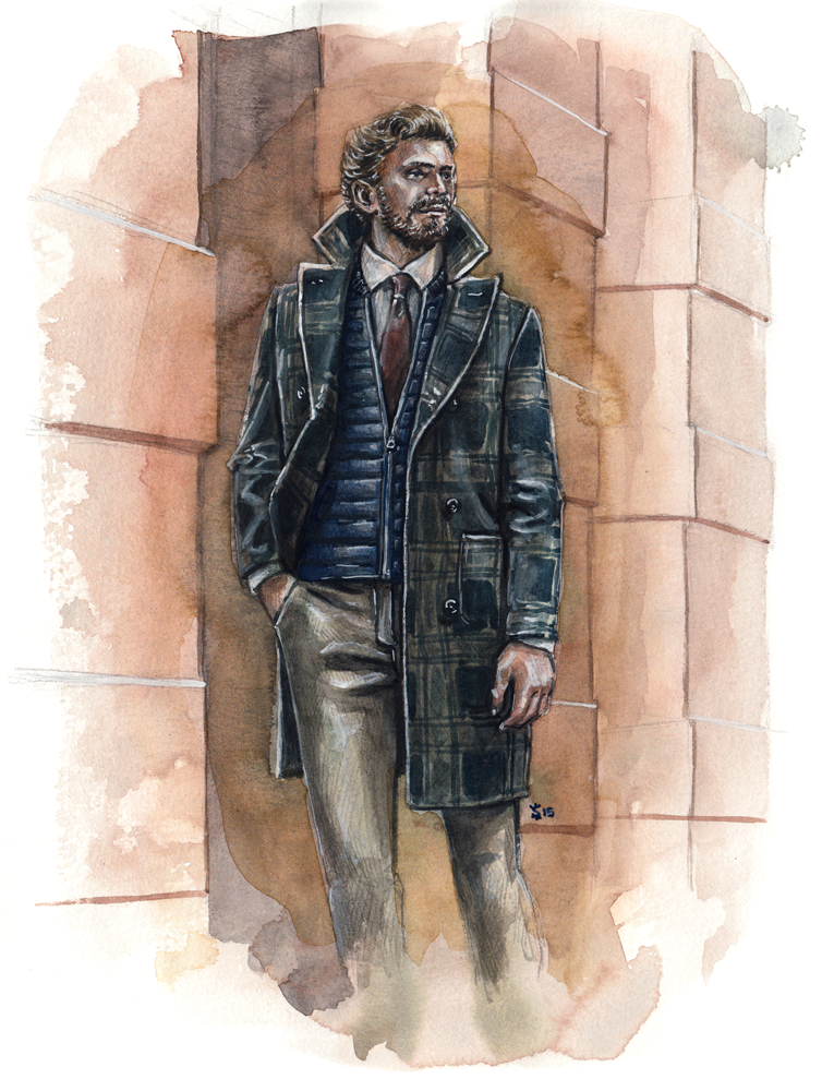 A  Zachary Prell  menswear illustration