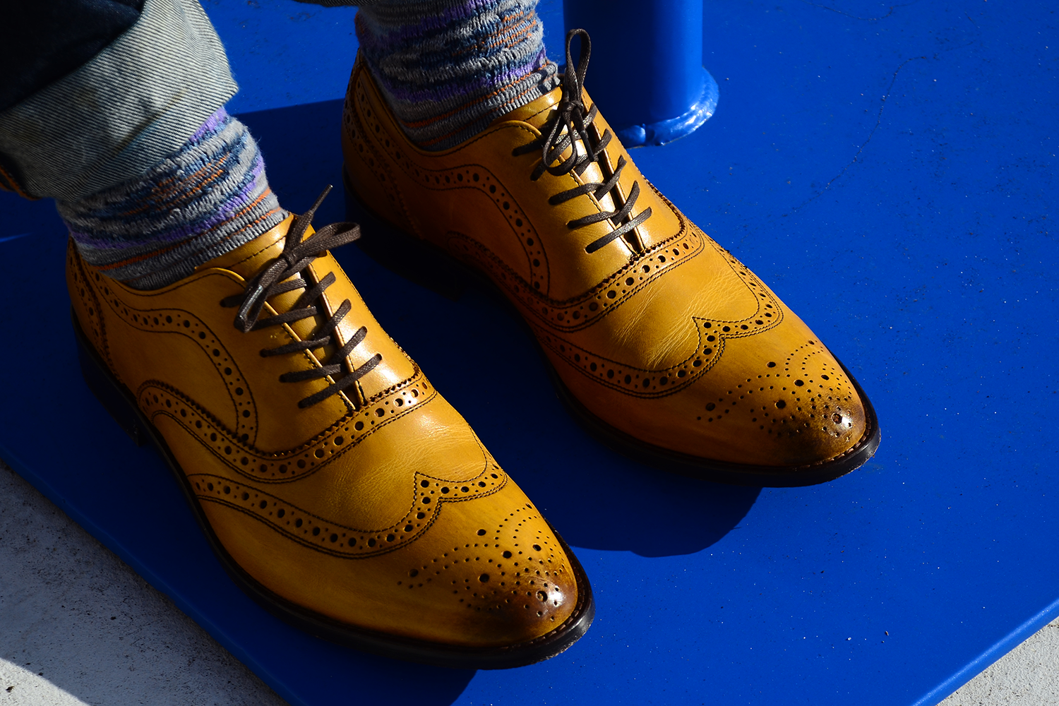 Just A Men Shoe in Yellow