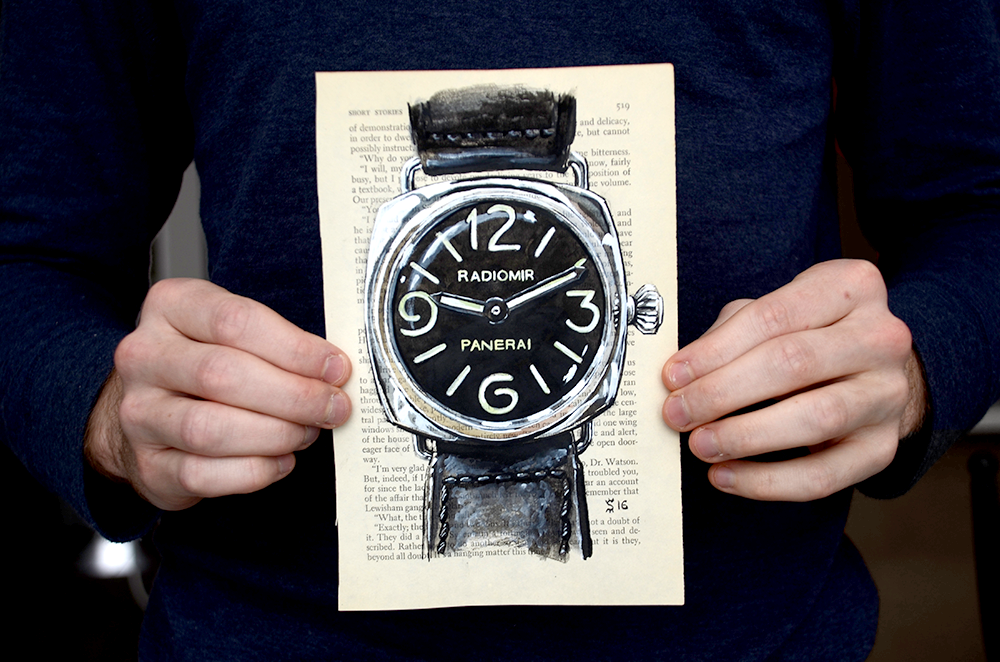 Life size painting of a Panerai Radiomir PAM210. Just kidding, it only feels that way.