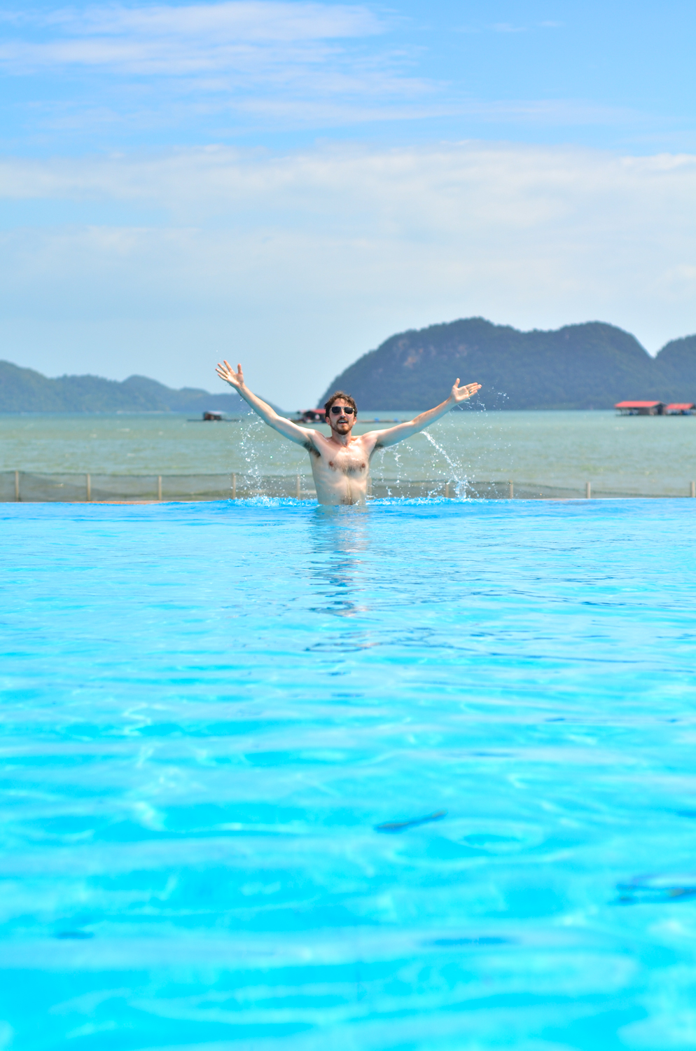 In the pool at Ocean Residence Langkawi
