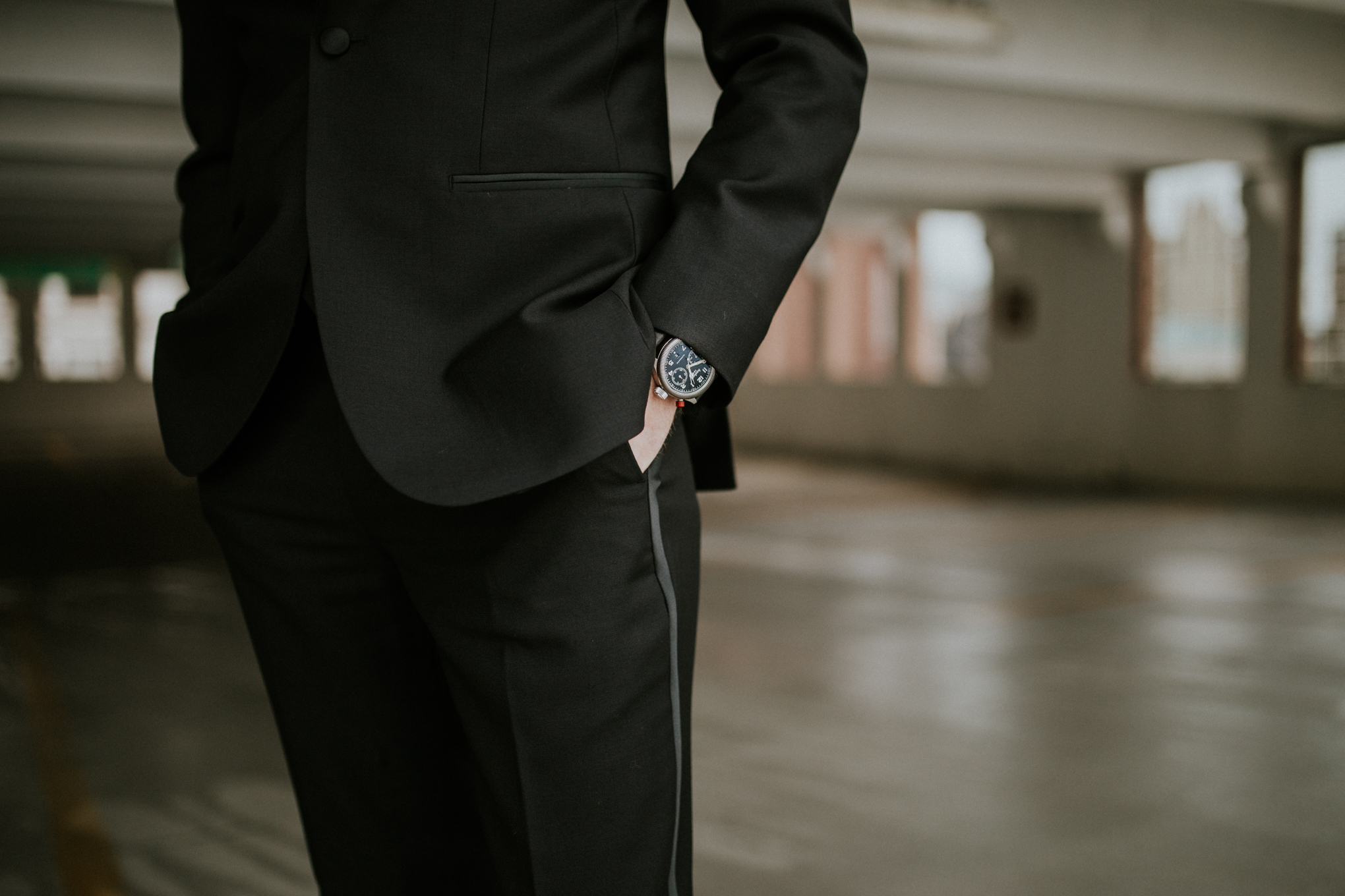 Hanhart watch with The Black Tux