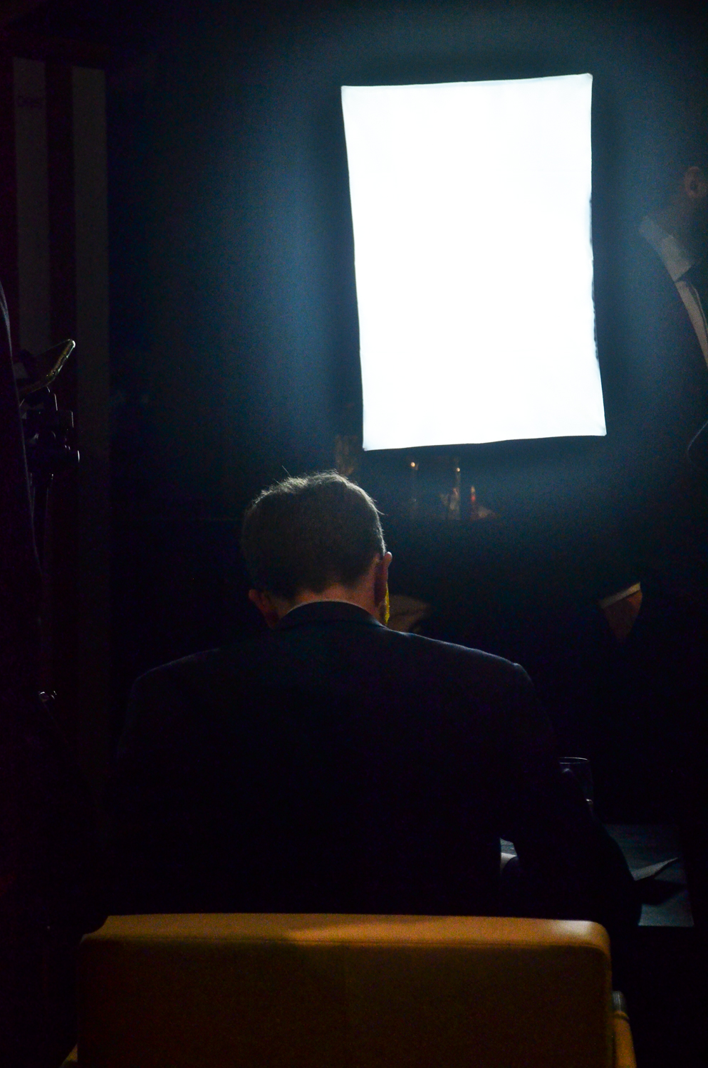 sitting in the spotlight while painting live at Baselworld