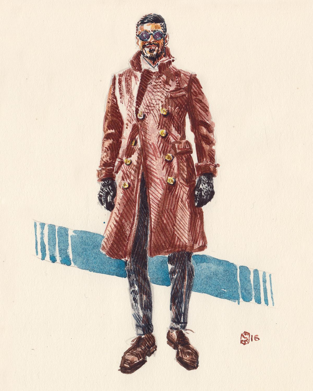 Khaled Nasr aka sartoriomerta portrait illustration
