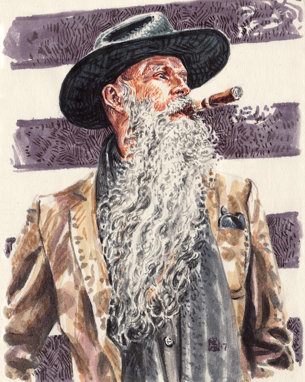 Mike Rubin of Krammer & Stoudt fashion illustration portrait
