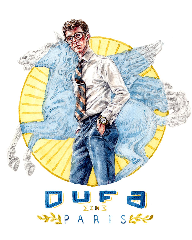 Painting of DuFa Watches in Paris, by Sunflowerman