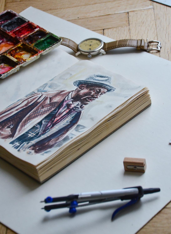 Photo of Sunflowerman's men's fashion illustration sketchbook