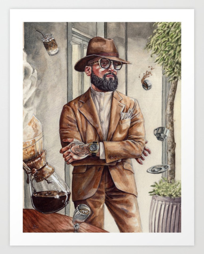 Coffee King - High Quality Art Prints