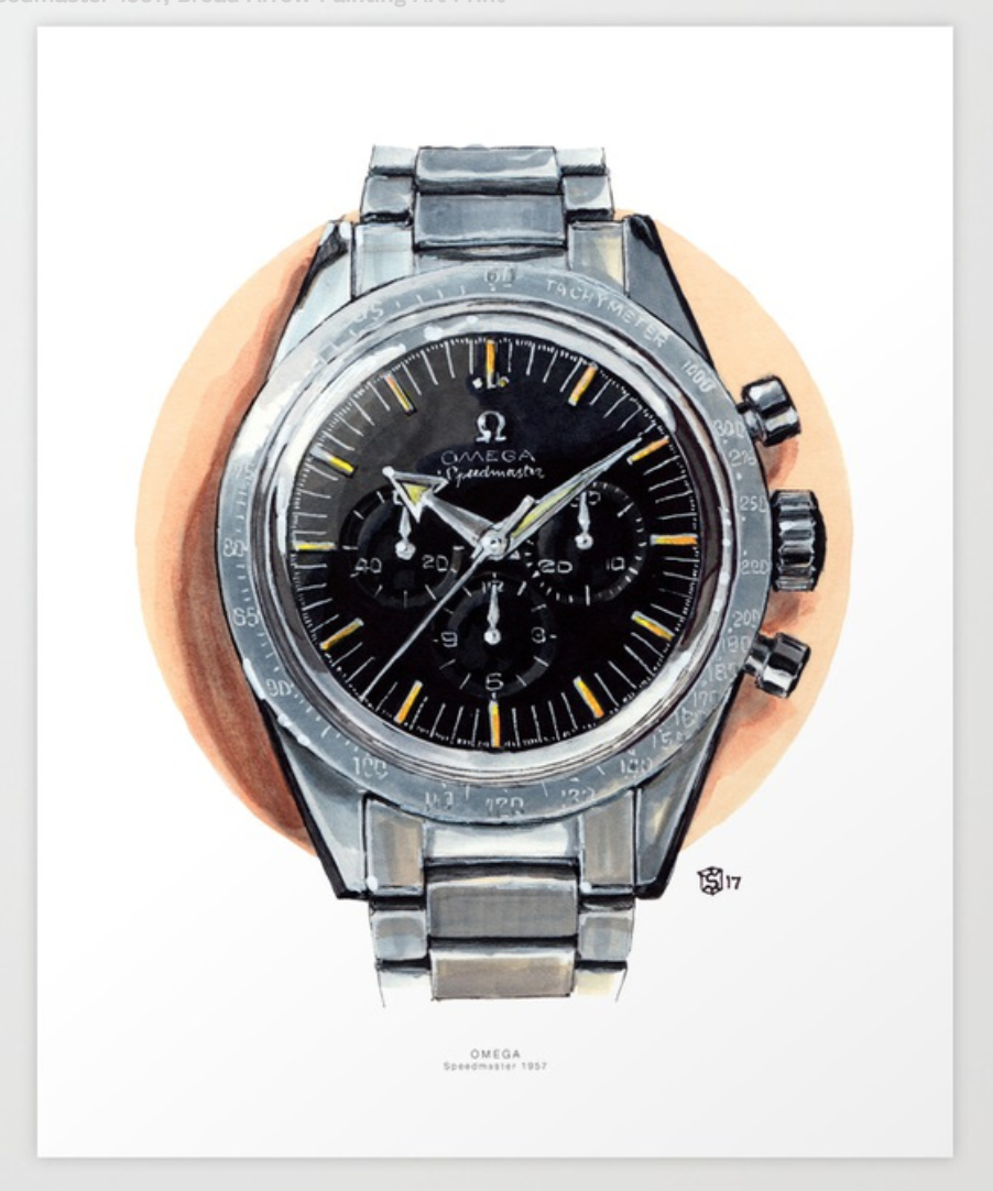 Buy a Print of the Omega Speemaster - Prints on Society6
