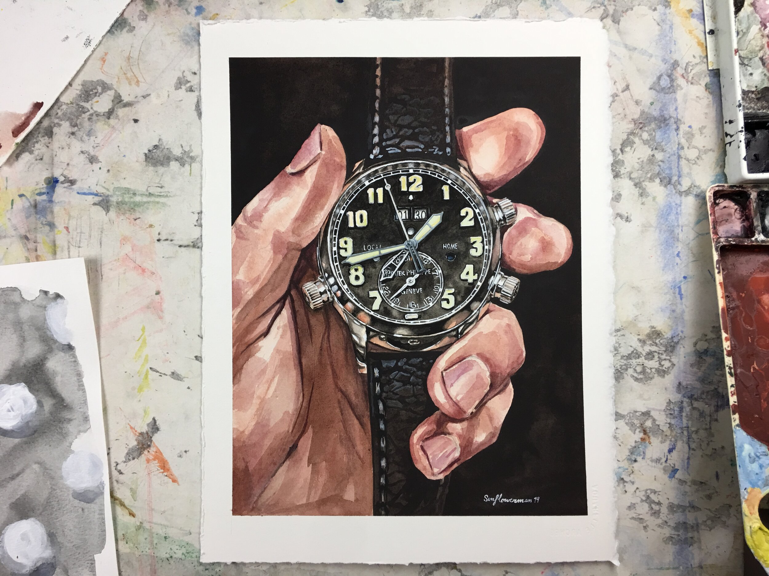 Patek Philippe 5520 watercolor illustration by Sunflowerman for Revolution Magazine