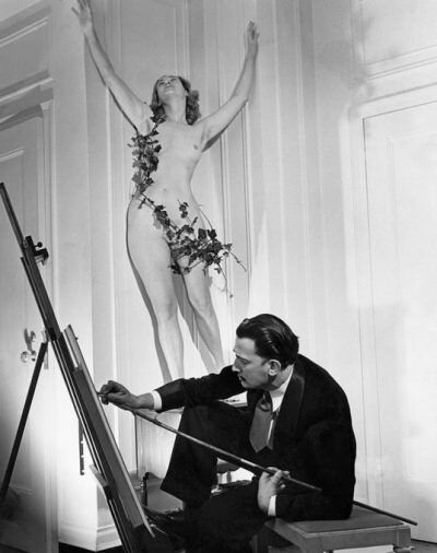 Salvador Dali. photographed by Philippe Halsmann