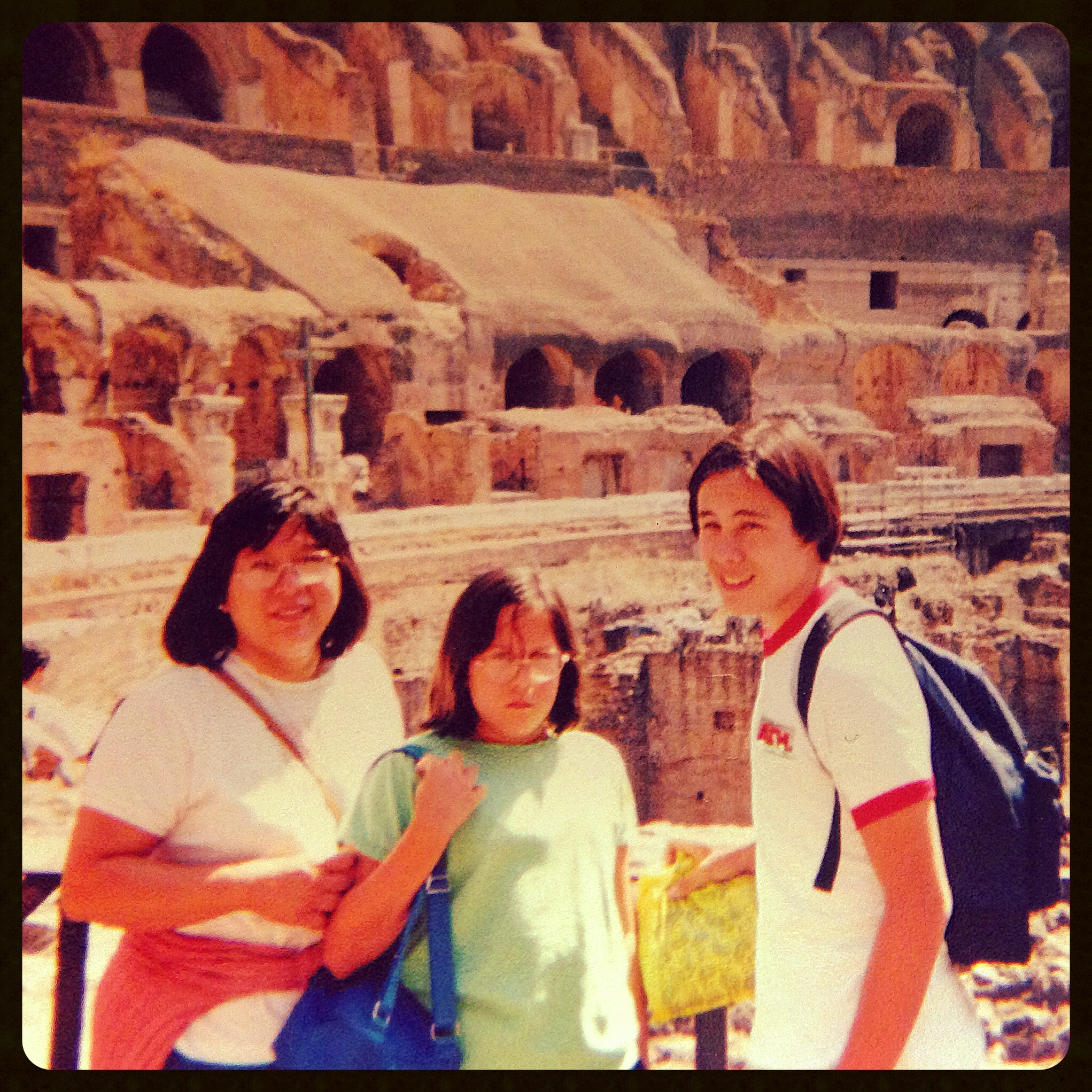 nikki & my mom & i in rome during the 90's. nikki was always so angry. such an angry toddler, nikki! :D jk.