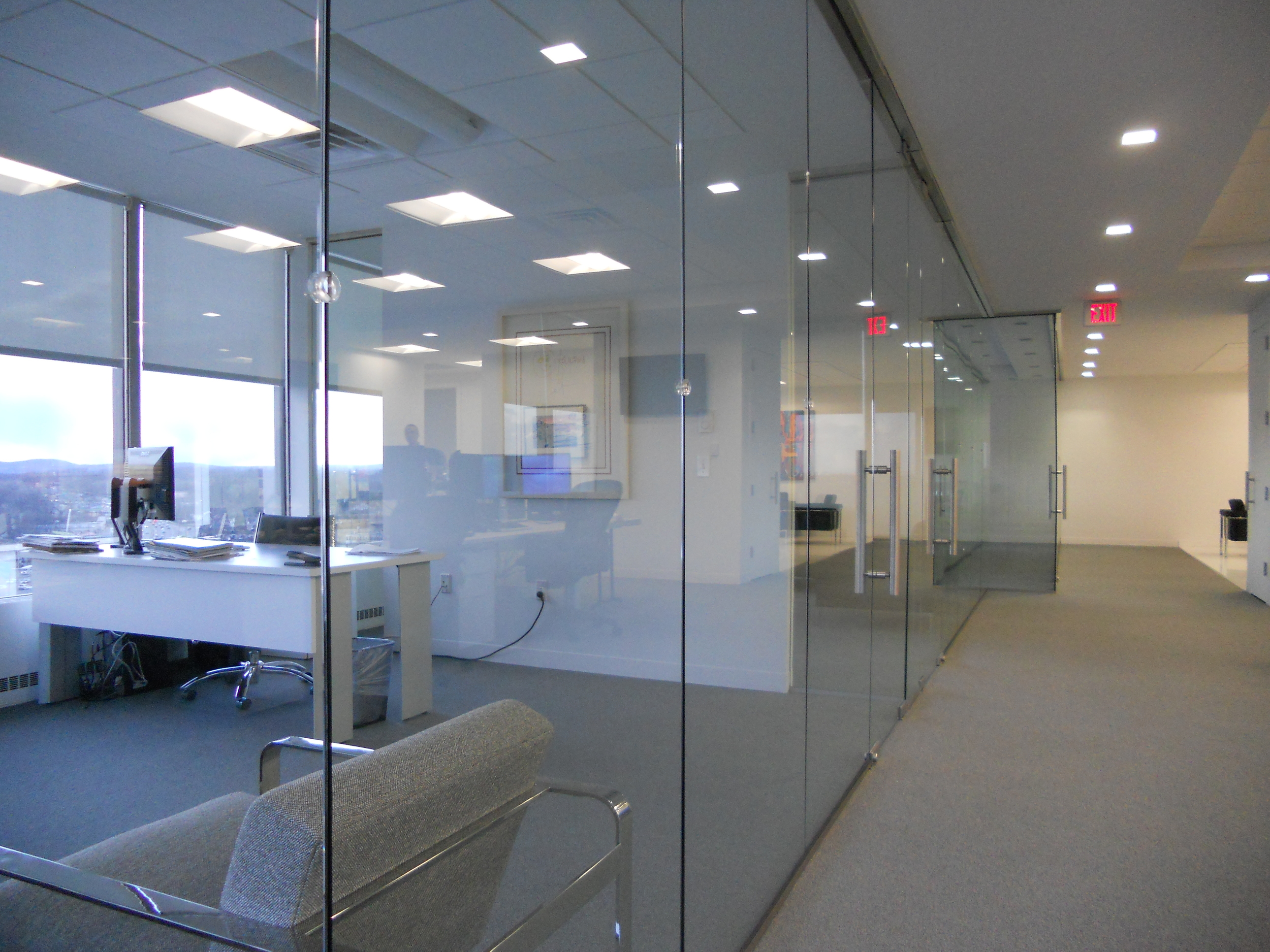 Office Partition Glass Wall.  Hackensack, NJ.