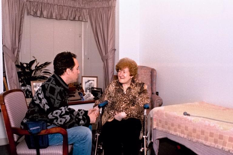 aul Stregevsky with his beloved aunt Sarah Lehrer in November 2001 at her nursing home in Cincinnati