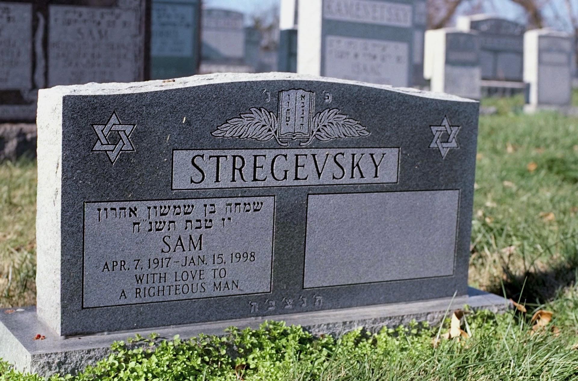 Sam's tombstone in Cincinnati, Ohio