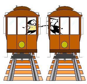 the original logo for Tracks the Musical