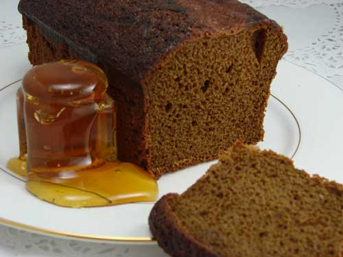 honey cake on a plate