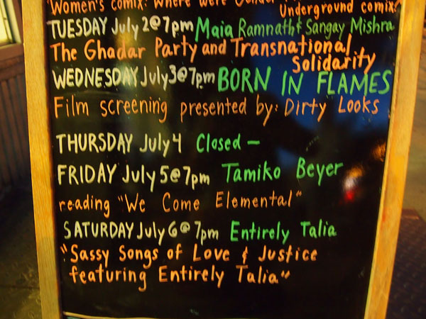 NYC Launch at Bluestockings books