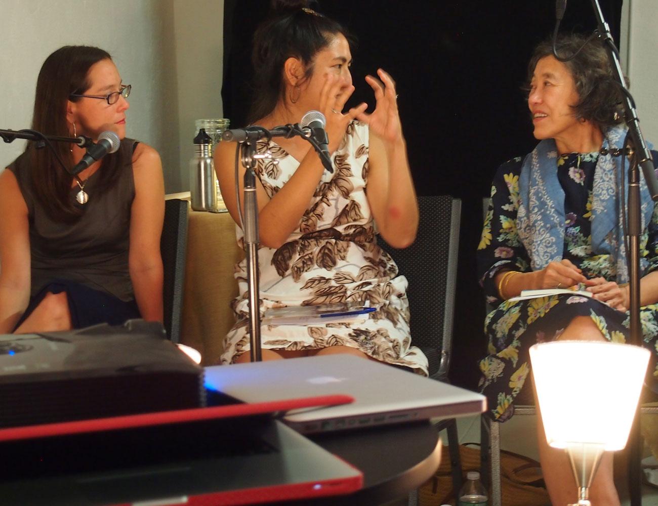 Janine and Mei-mei in conversation