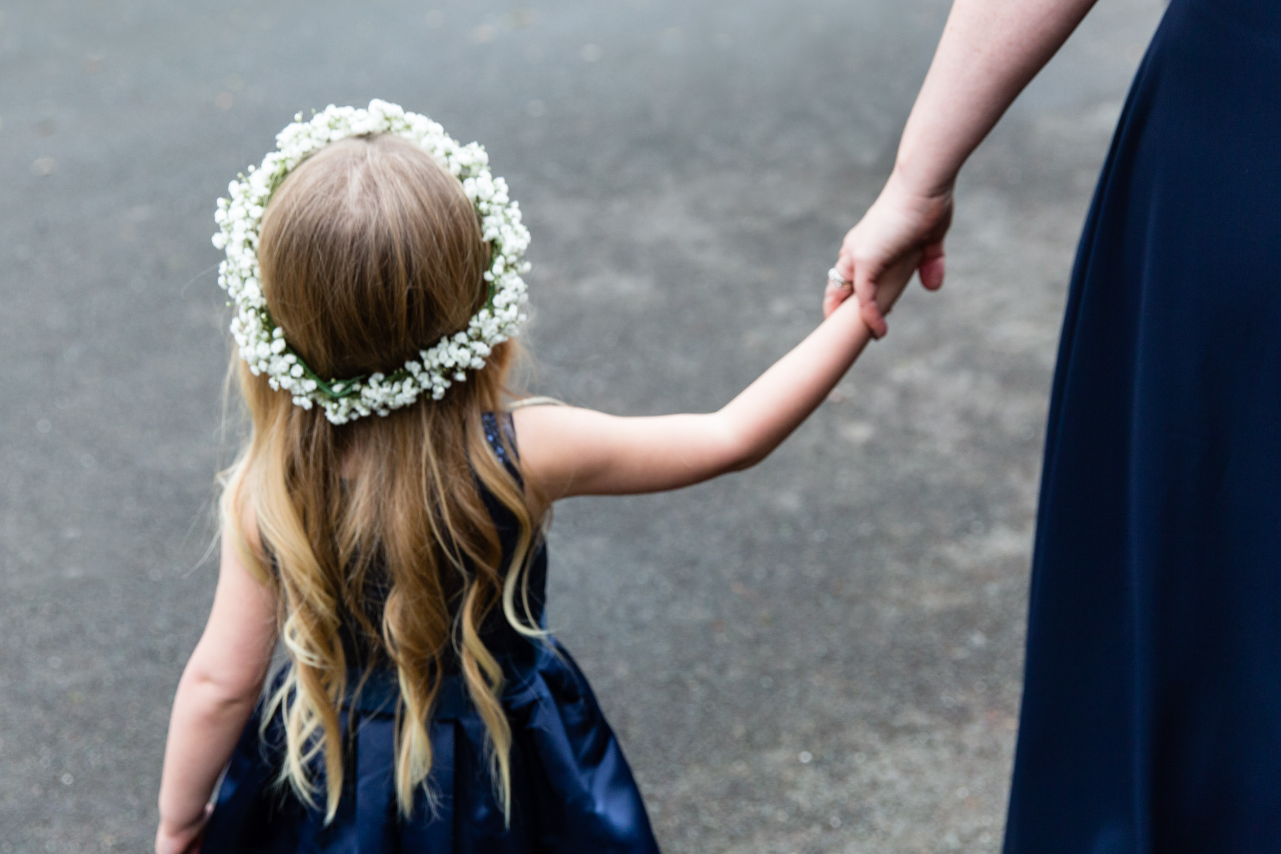 surrey wedding photography flower girls