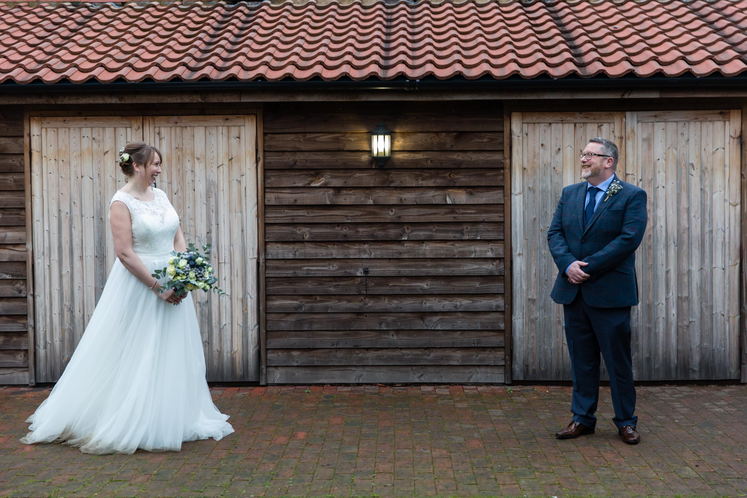 oaks farm barn surrey bride and groom portrait