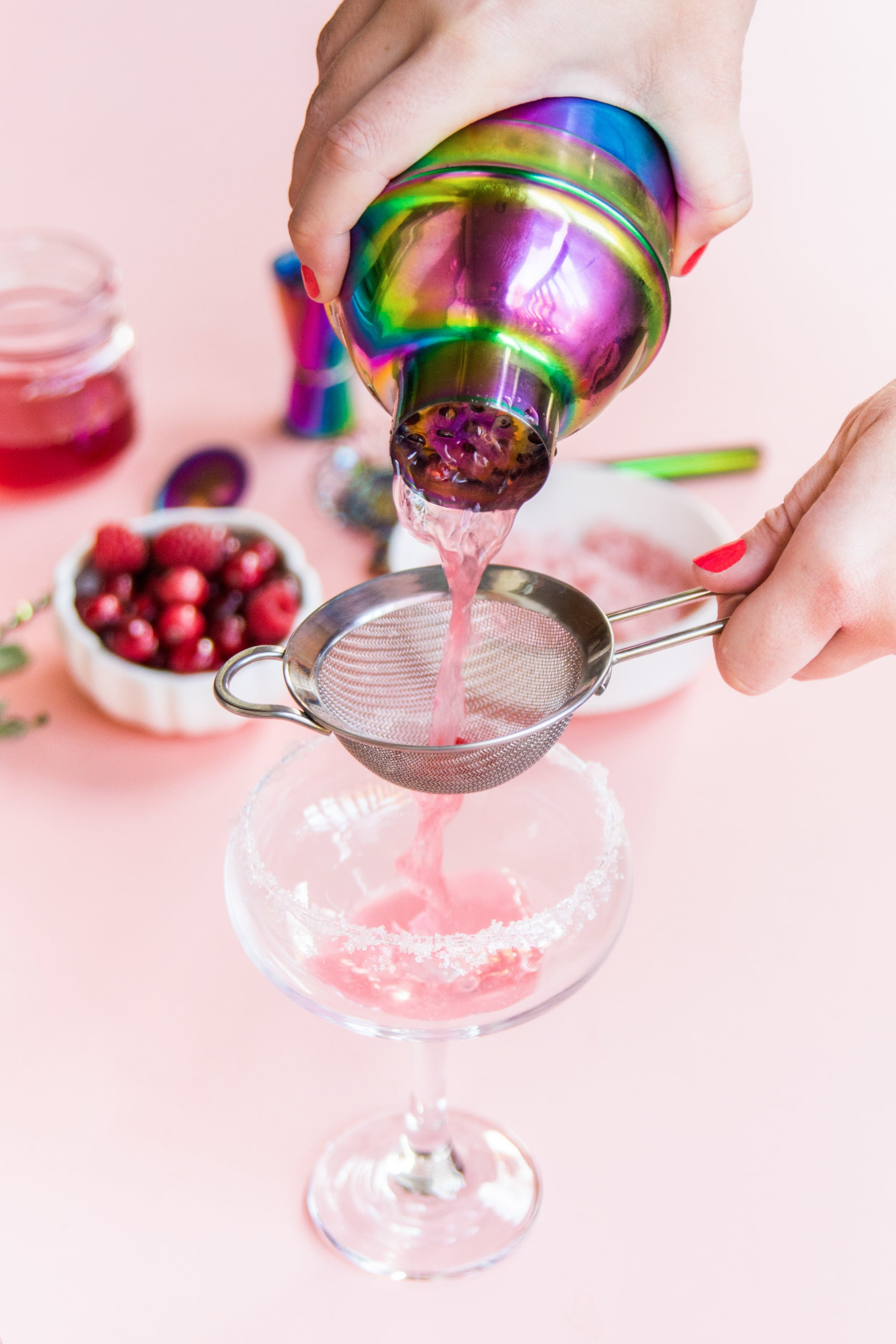 Urban Outfitters   Berry and Sage Holiday Spritzer   Recipe & Styling by  Dani Colombatto