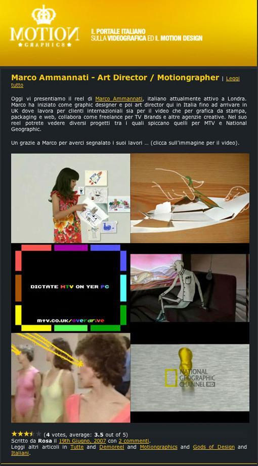 Motiongraphics.it - June 2007