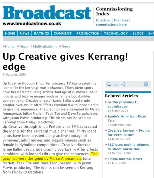 Broadcast: Kerrang! - October 2004