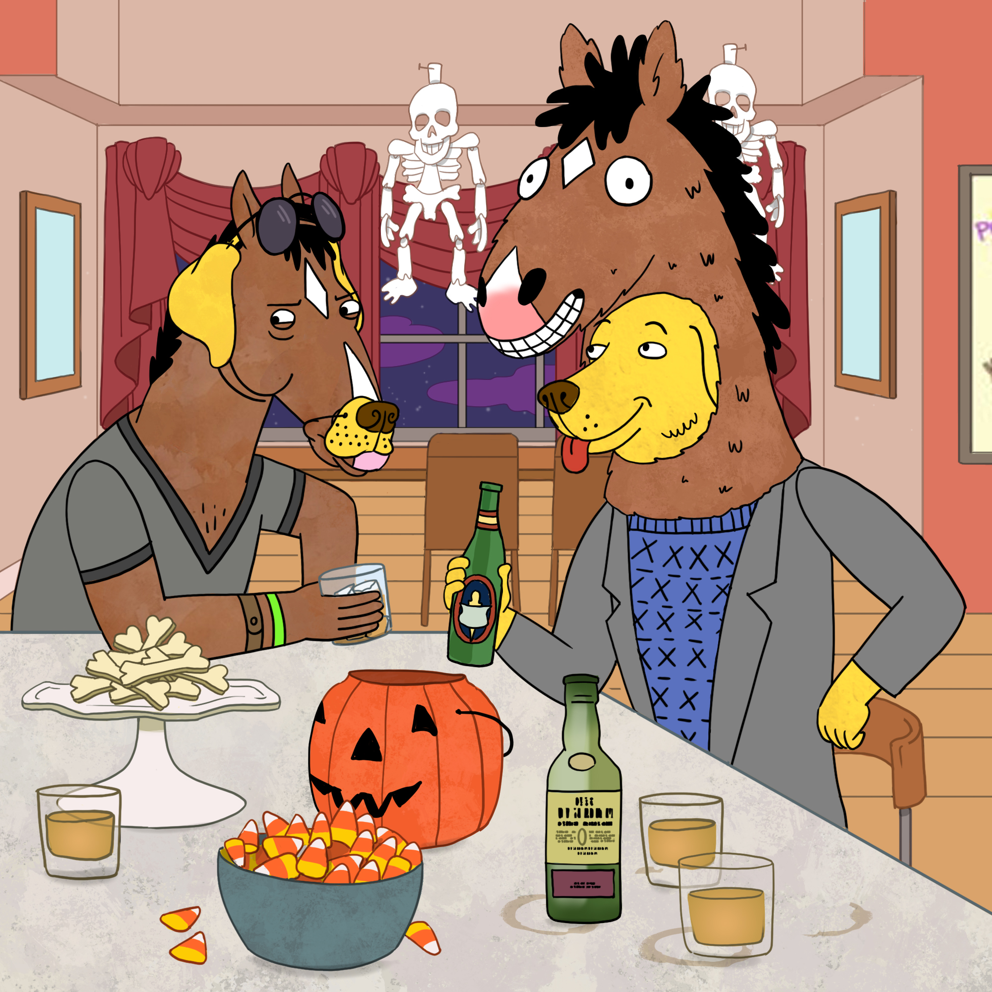 mr PB and Bojack hallowen.jpg