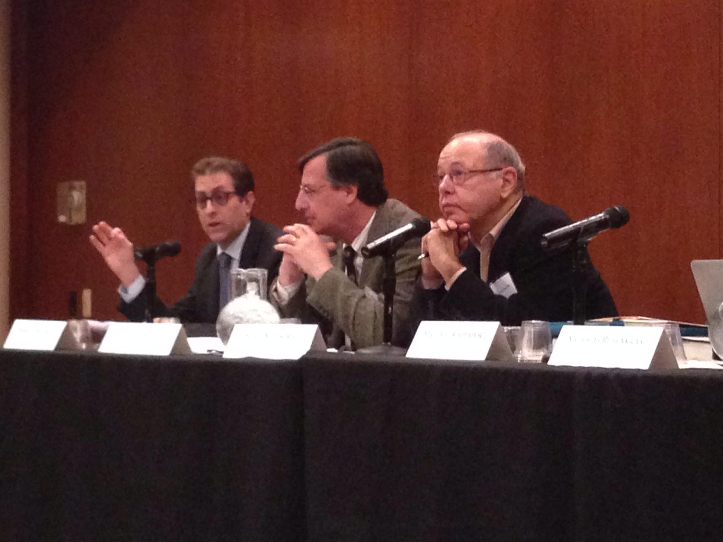 Barry Friedman, Gary Lawson, Burt Neuborne (from left to right)