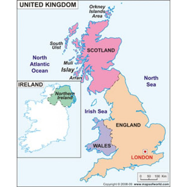 Four countries, one United Kingdom.