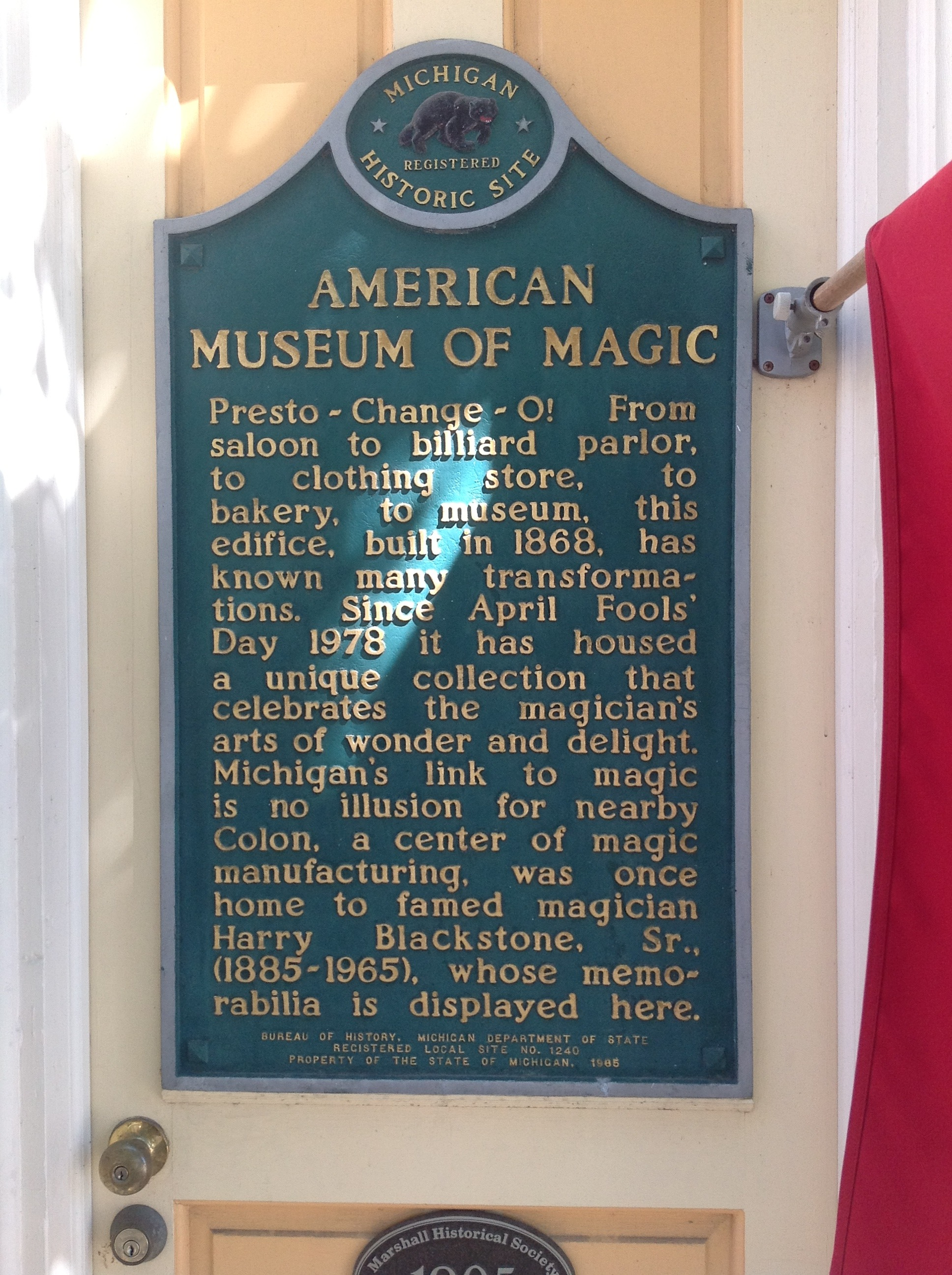 Photos of the American Museum of Magic - Marshall, Michigan