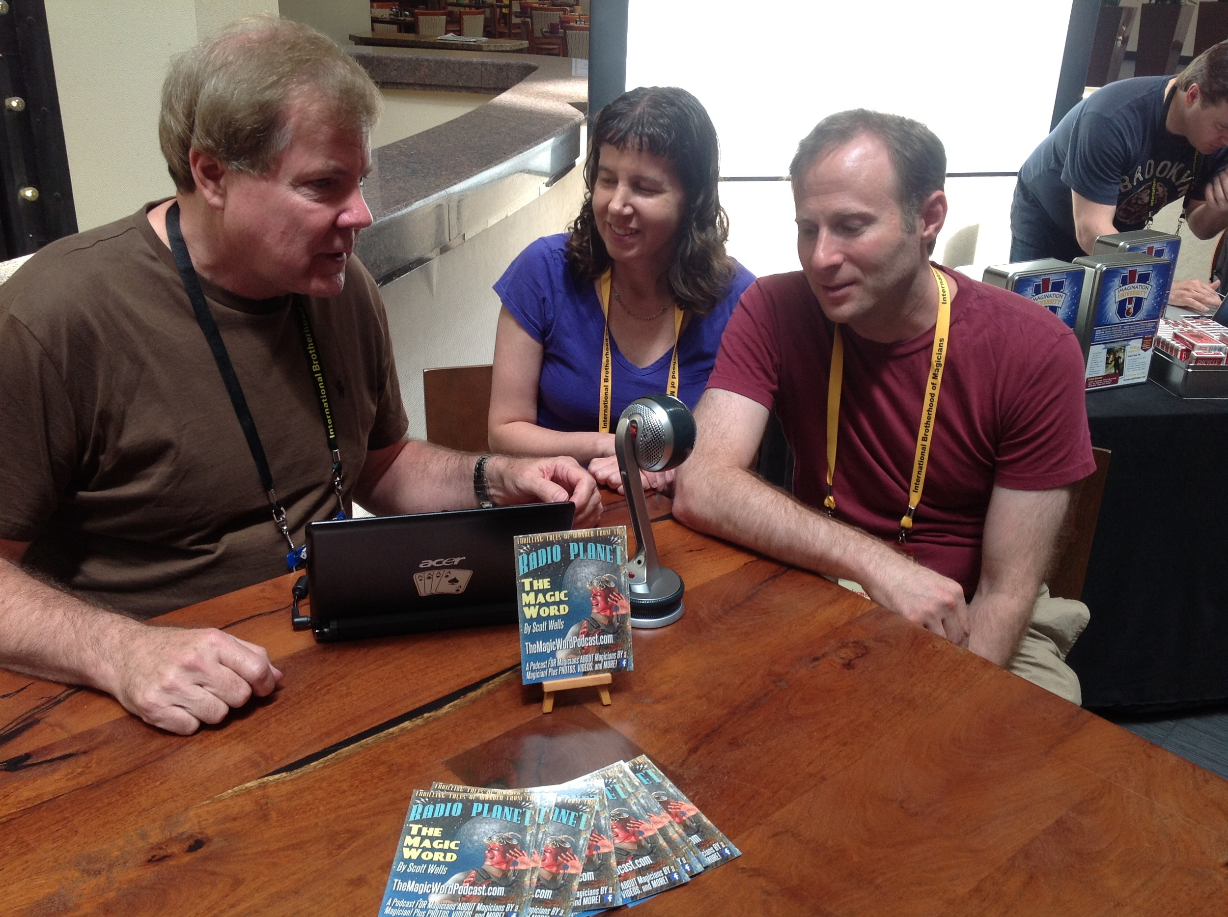 Podcasting from the floor of the dealers' room with Joe Gold and Tammy Caplan