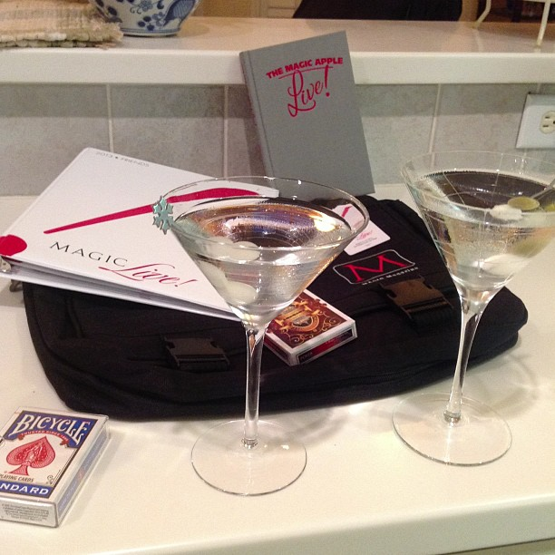 Magic & Martinis Thursday after returning home from MAGIC Live! in time to enjoy the evening with my mate who is visiting from Scotland, John McGrath.