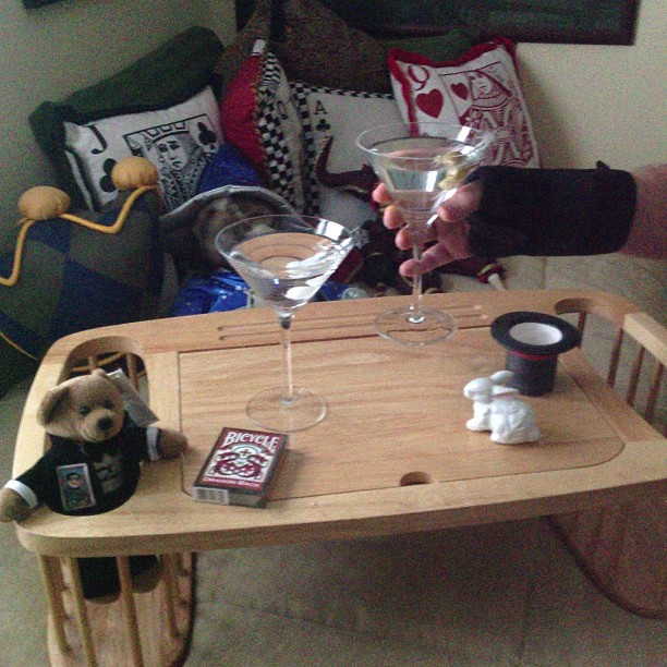 Martinis aid in the recovery of my hand surgery.