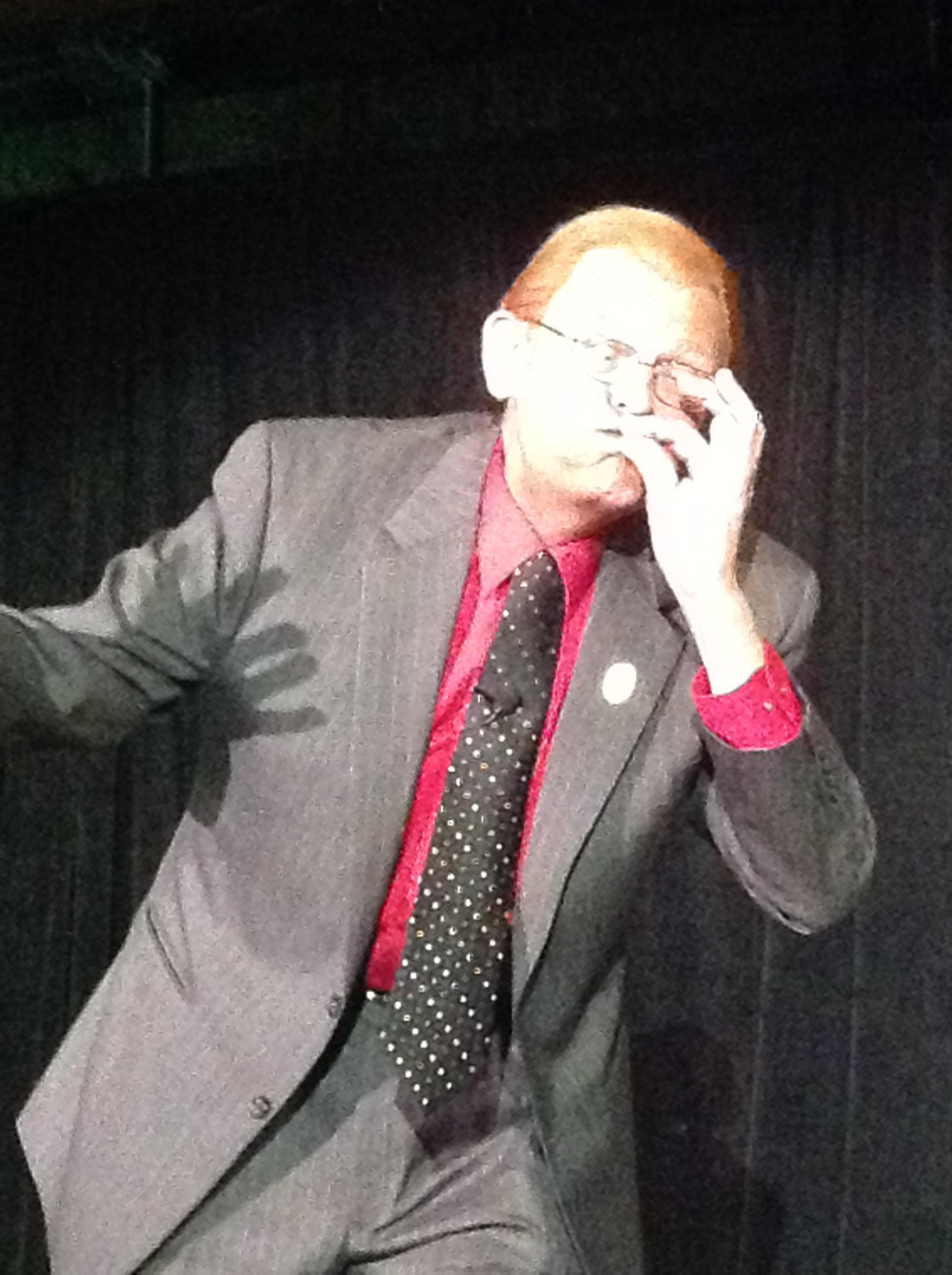 Tom Mullica doing Red Skelton gag