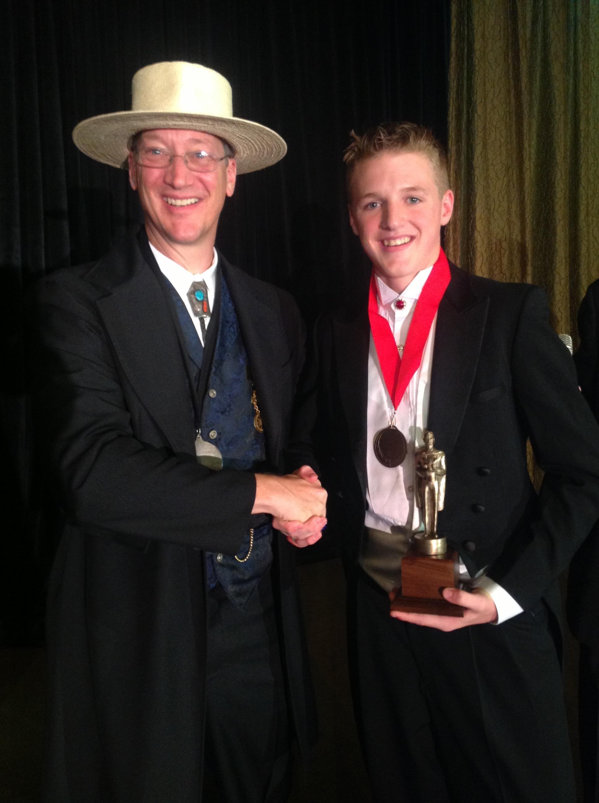 TAOM 2014 Prez Bill Irwin with Chase Hasty