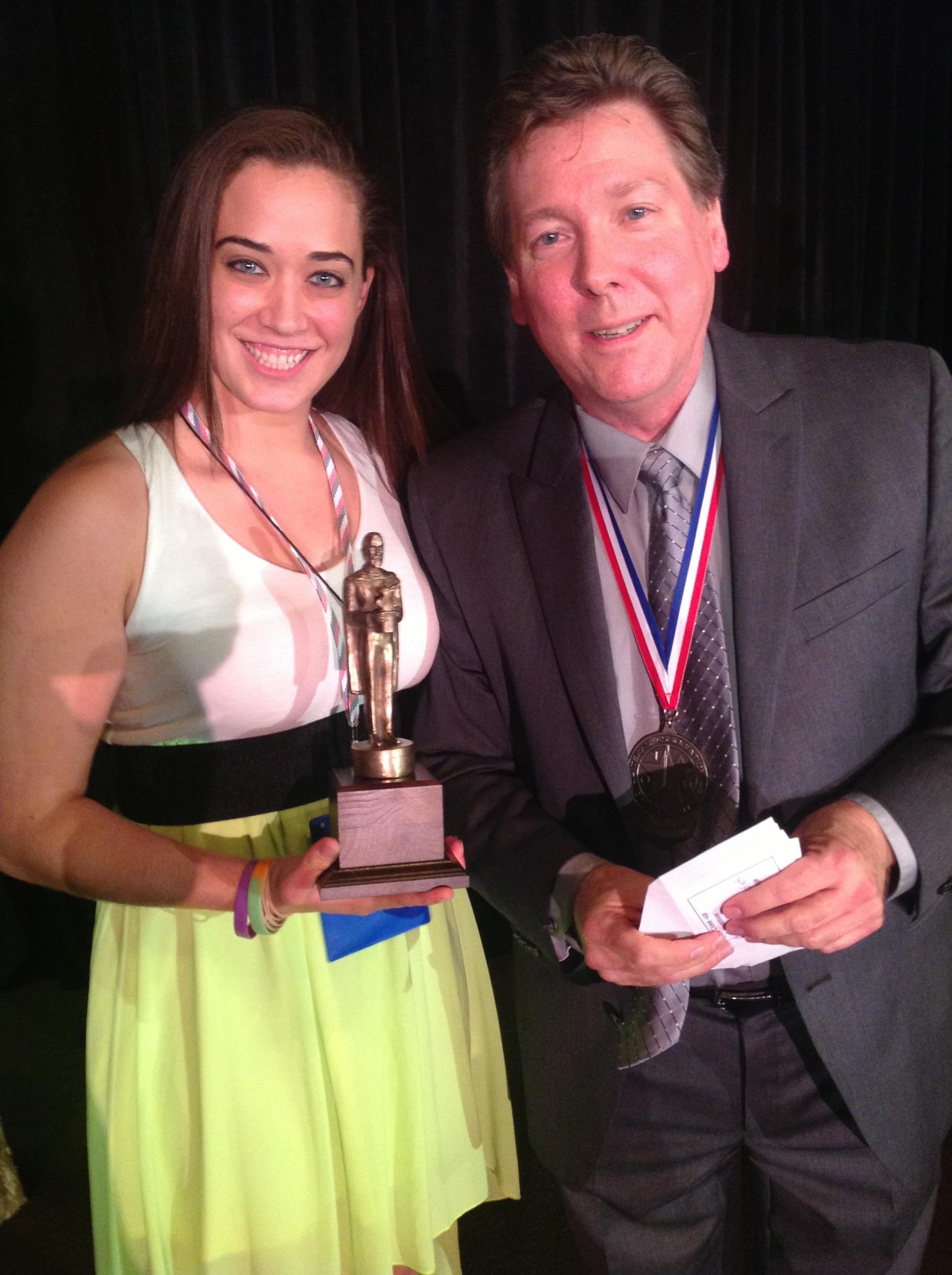 Kayla Drescher and Bob Emory
