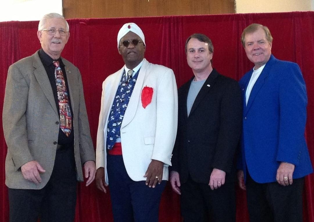 "Dick Olson, Michael ""Cobra"" Thomas, Scott Wells and Rick Hebert."