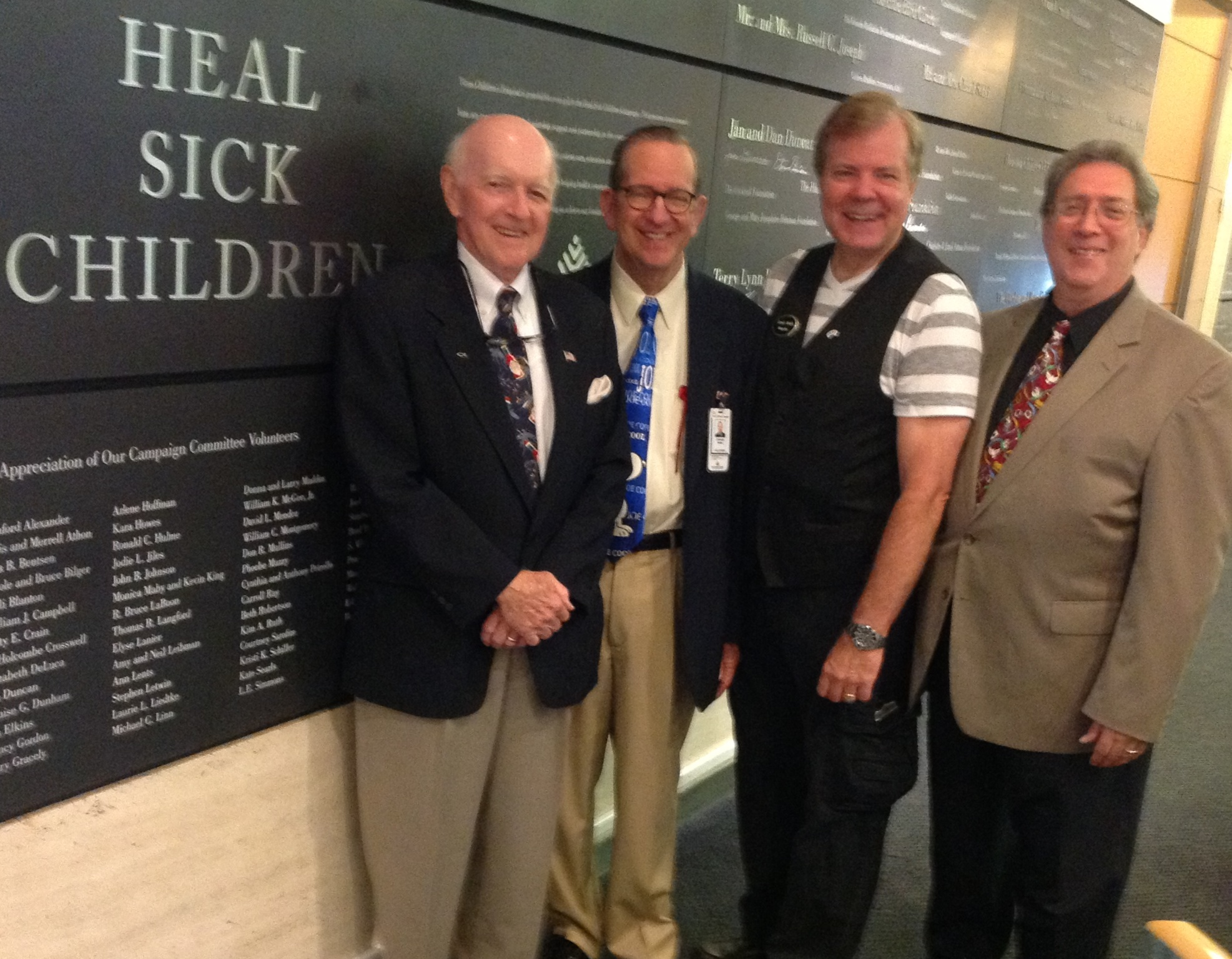 Bill King, Steve Shain, Scott Wells and Gene Protas