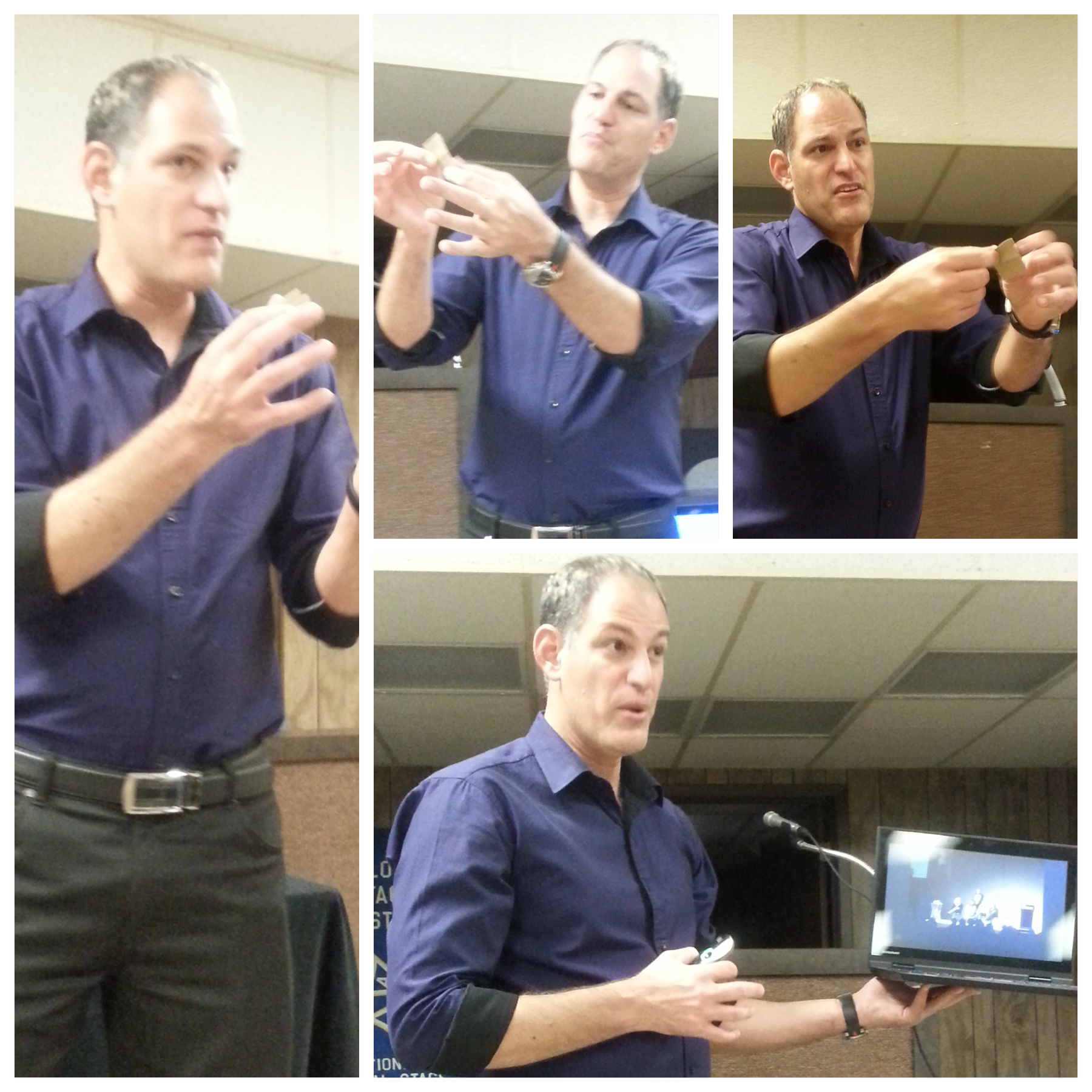 Candid photos of Roy during his lecture here in Houston.
