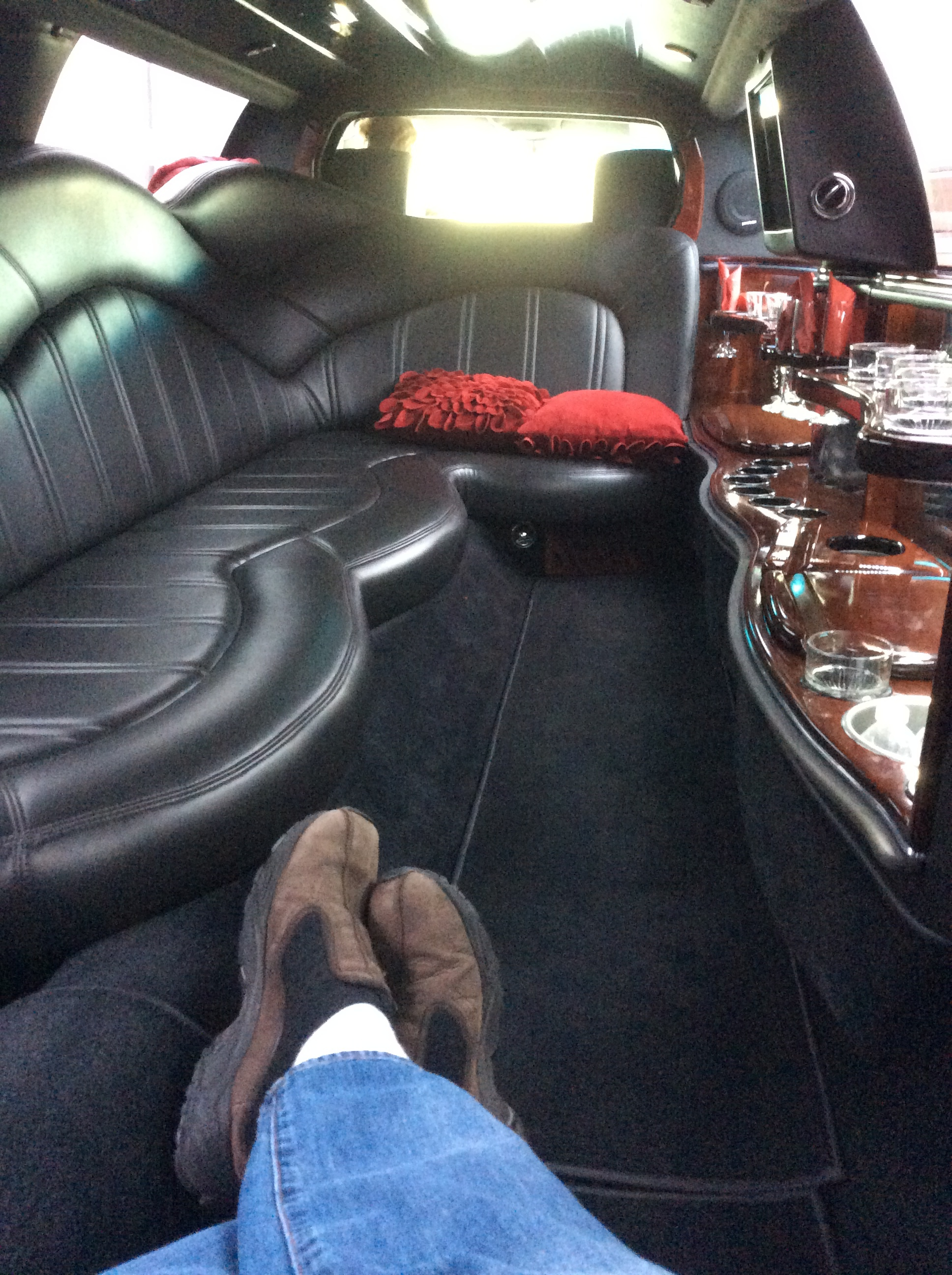 Chillin' in the stretch limo