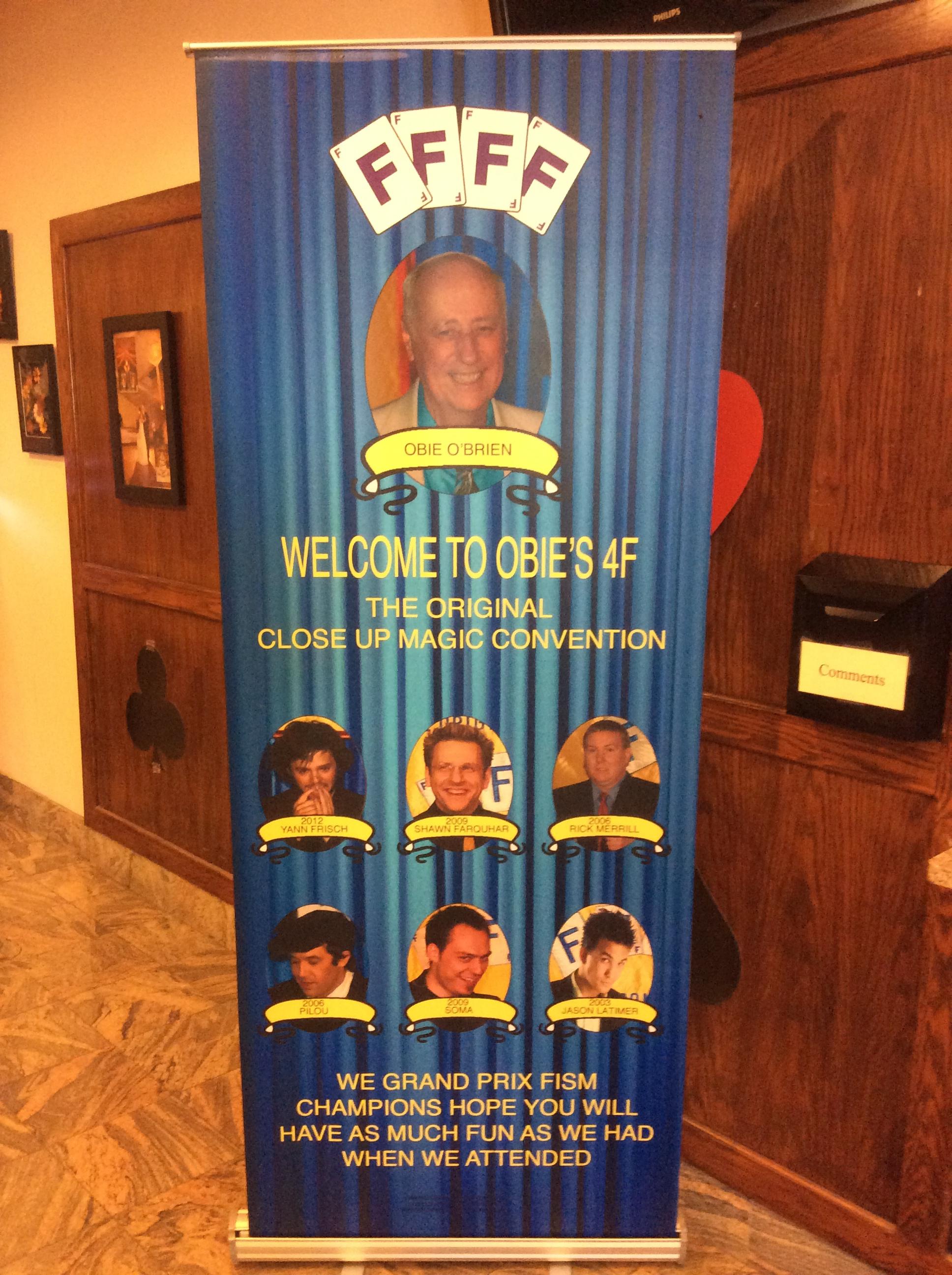 Welcoming banner at hotel registration desk