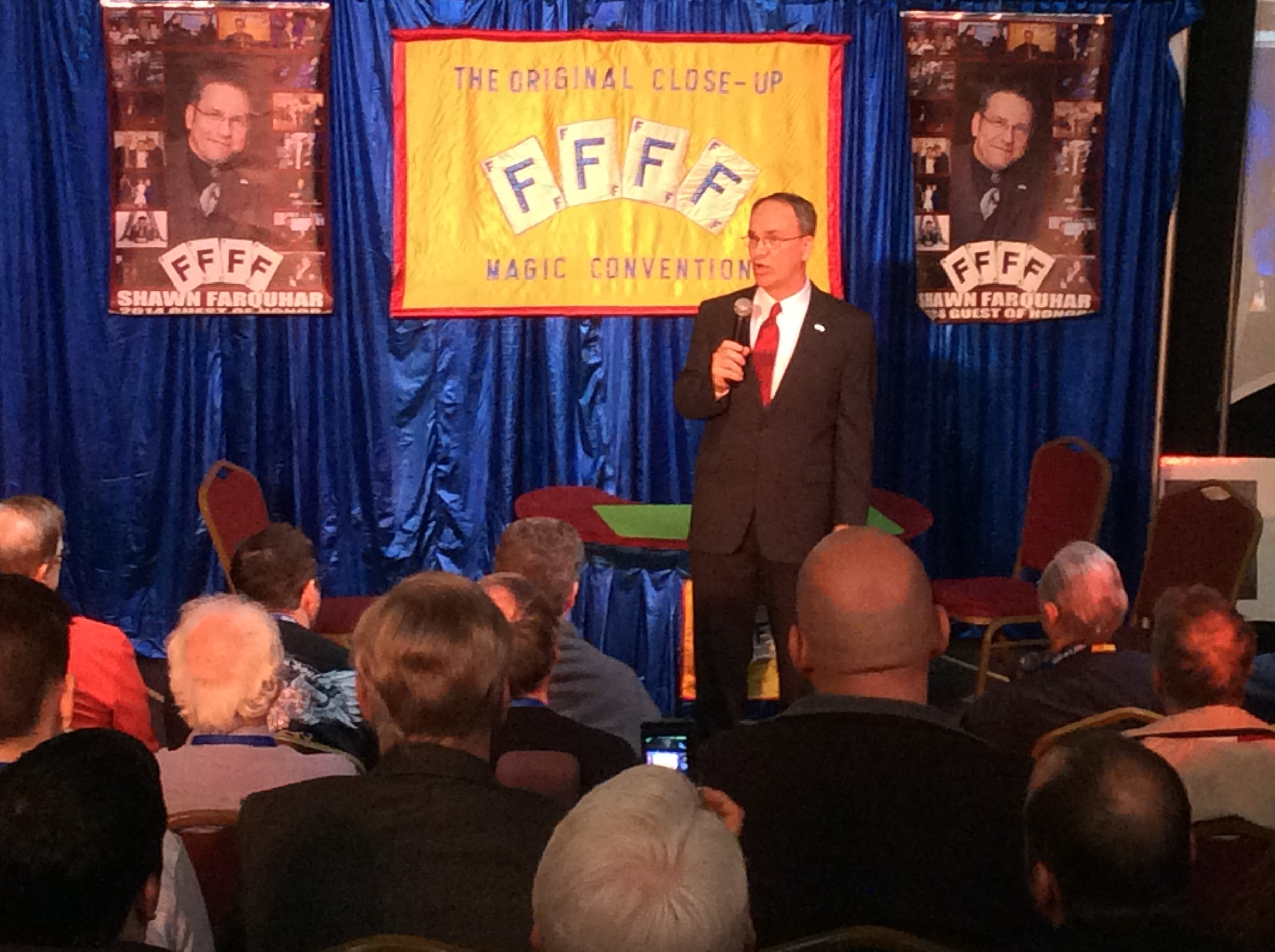 """Steve Beam, hilarious host for the """"Kick Off"""" show"""