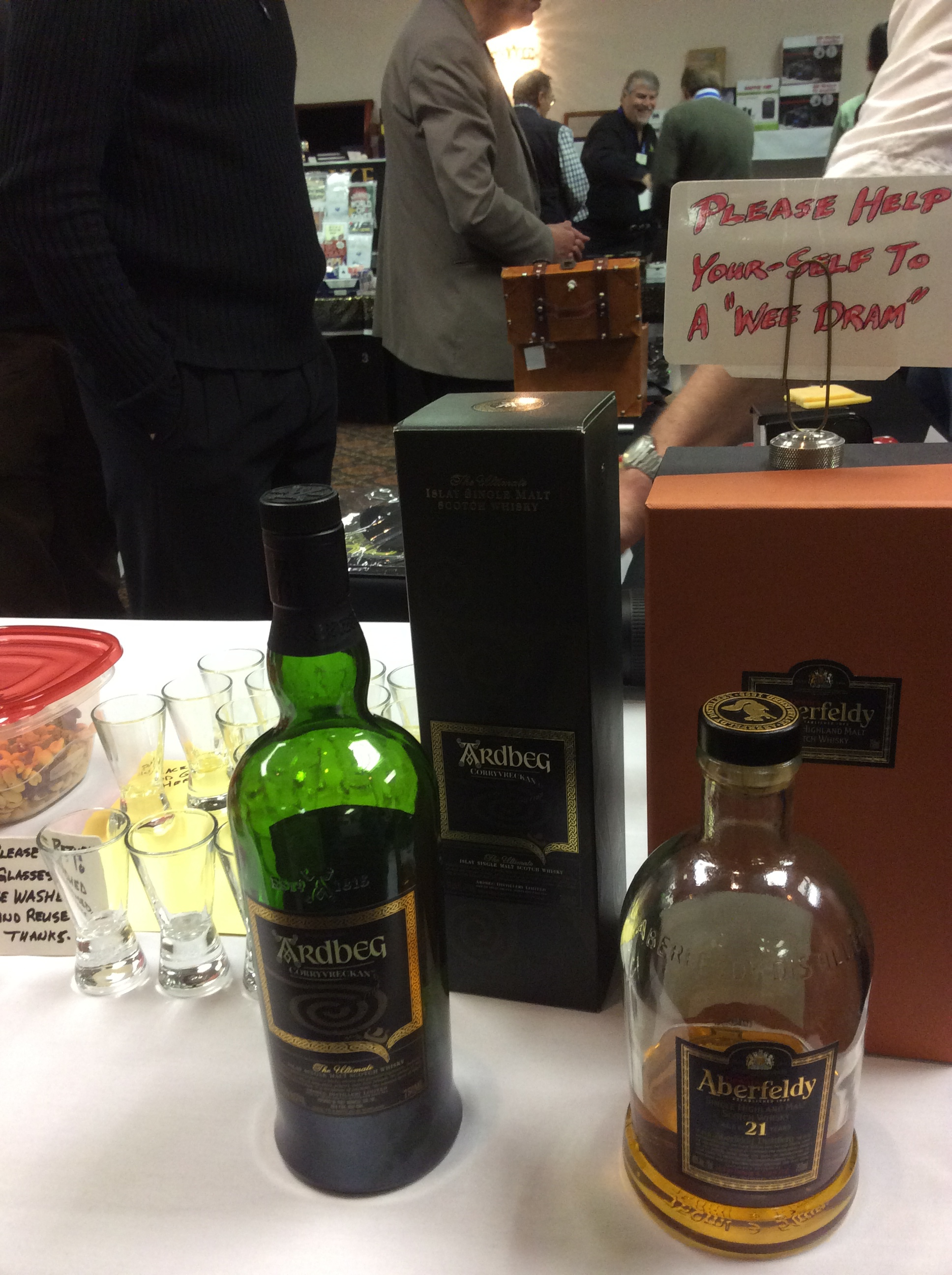 When is the last time you ever got something free in the Dealer's Room? Free Scotch.