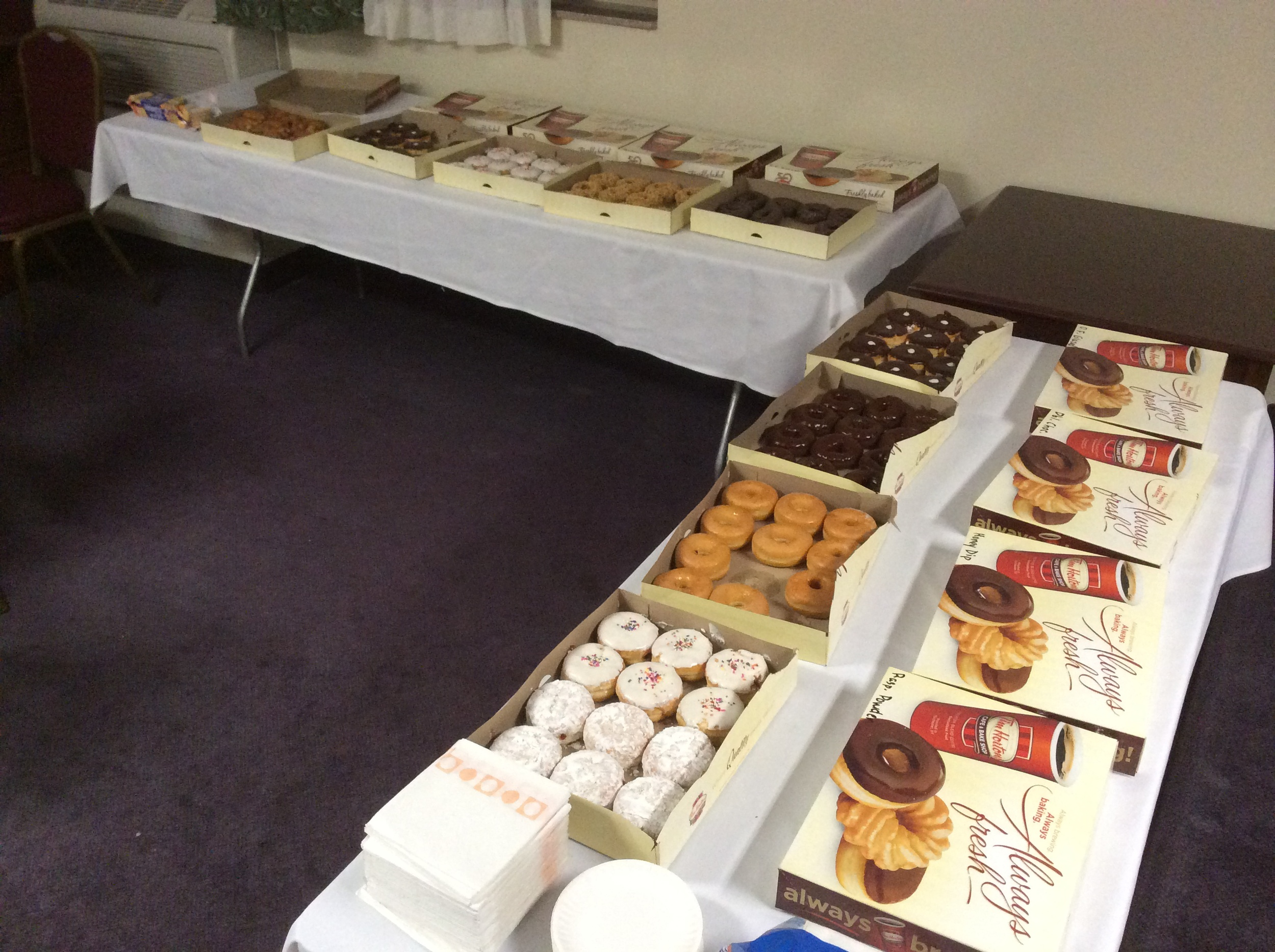 Doughnuts in the Hospitality Suite