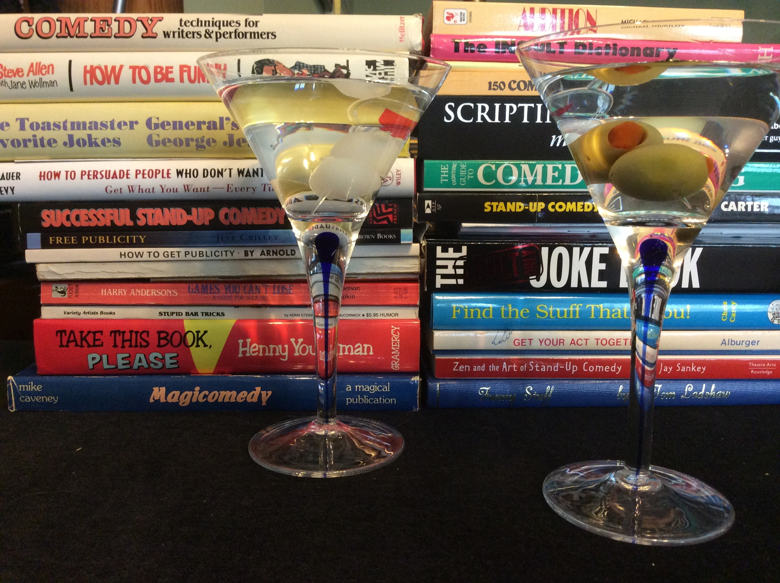 A little light reading during the cocktail hour. What's on your shelf?