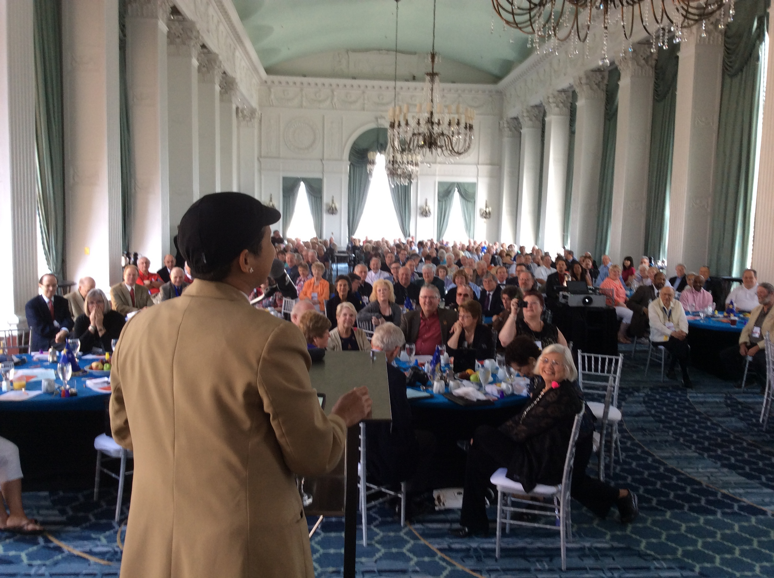 Lupe's Audience at Merlin Breakfast
